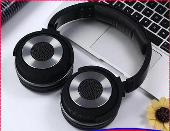 Bluetooth слушалки HYBRID SY-BT1611SP слушлки и спийкър 2 в 1 - TF/SD карта, FM радио, USB - черни с графит