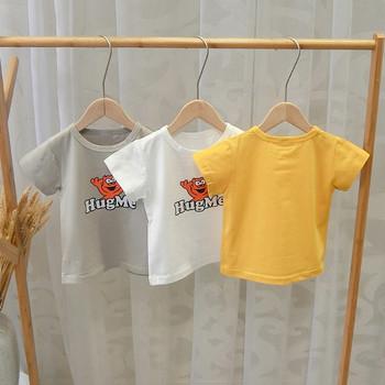 Нов модел ежедневна детска тениска с апликация за момчета