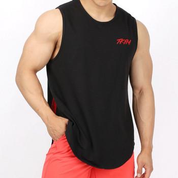 Спортен мъжки потник с широки презрамки в няколко цвята