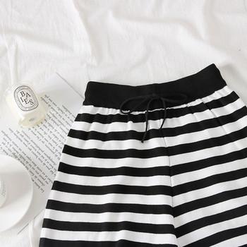 Нов модел къси дамски раирани панталони
