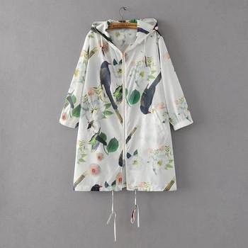 Тънко пролетно-есенно яке с дълъг ръкав и качулка