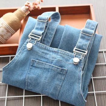 Нов модел детски гащеризон в син цвят за момичета