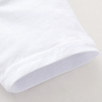 Нов модел детска тениска с апликация в бял цвят