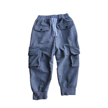 Спортен детски панталон с джобове в три цвята