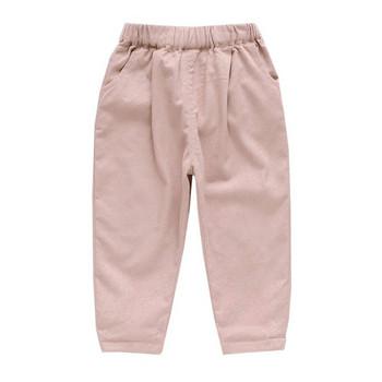 Модерен детски панталон в два цвята с бродерия