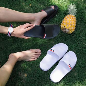 Ежедневни  мъжки чехли в бял и черен цвят