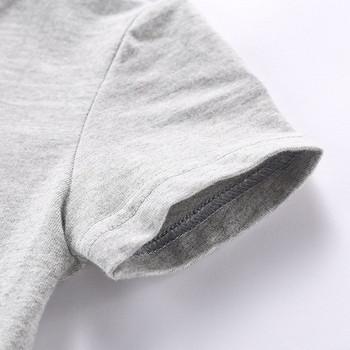Детска ежедневна тениска в три цвята с апликация за момчета