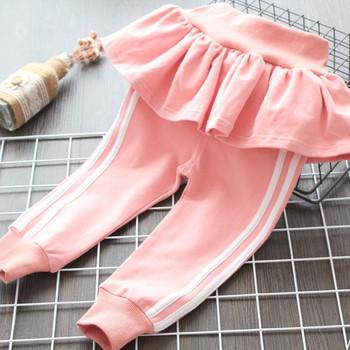 Ежедневен детски панталон за момичета в сив,розов и син цвят