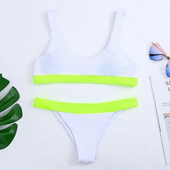 Нов модел дамски бански костюм от две части в три цвята