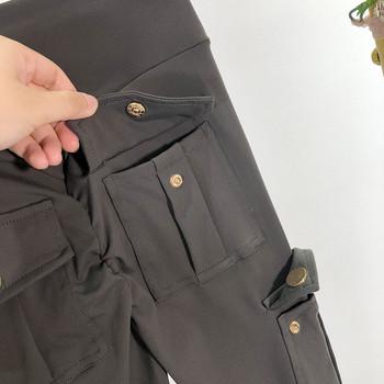 Дамски панталон със джобове - slim модел