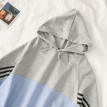 Спортен дамски комплект включващ суичър и къси панталони в два цвята