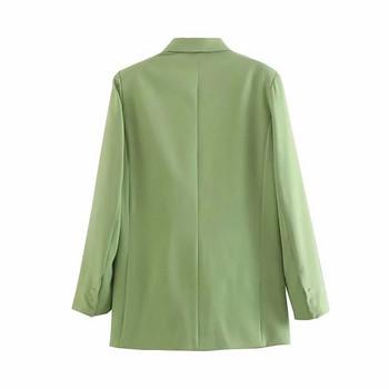 Дамско сако с V-образна яка в три  цвята