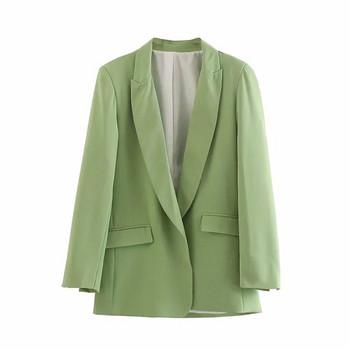 Нов модел дамско сако в розов, син и зелен цвят