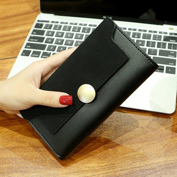 Ежедневно дамско портмоне с метален елемент в няколко цвята