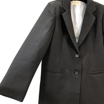 Дамско сако с дълъг ръкав в черен цвят