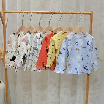 Нов модел детска пижама от две части за момчета - няколко цвята