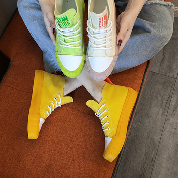 Ежедневни дамски кецове в жълт, зелен и бежов цвят