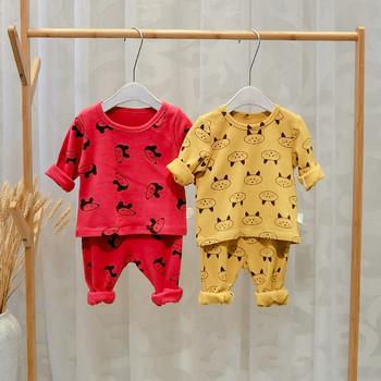 Нов модел детска пижама блуза + панталон в няколко цвята за момчета