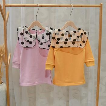 Ежедневна детска рокля за момичета в лилав и оранжев цвят