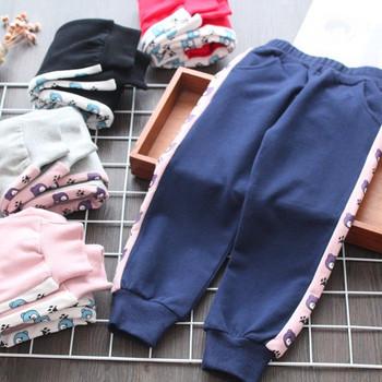 Модерен детски панталон за момичета с кант в няколко цвята