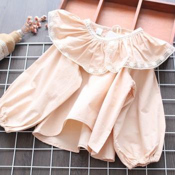 Детска риза нов модел за момичета в розов цвят