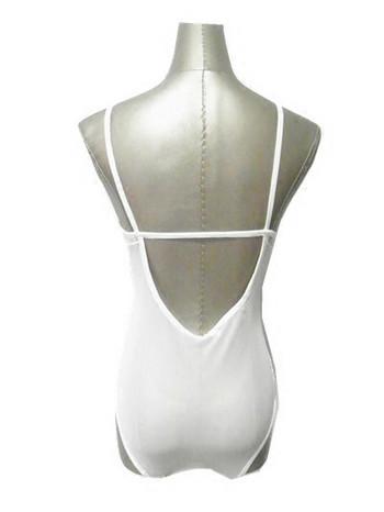 Стилно дамско дантелено боди с тънки презрамки в бял и черен цвят