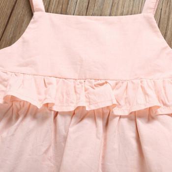 Модерен детски комплект панталон + потник за момичета