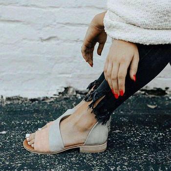 Дамски модерни сандали с равна подметка в няколко цвята