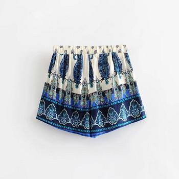 Нов модел дамски къси панталони с десен