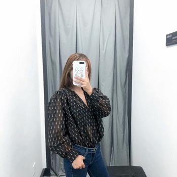 Елегантно дамско боди от тюл в черен цвят