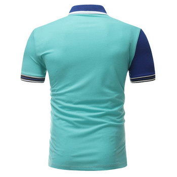 Ежедневна  мъжка тениска с къс ръкав и копчета в три цвята
