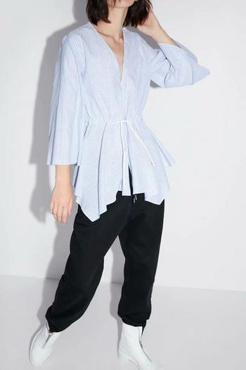 Дамска раирана асиметрична блуза