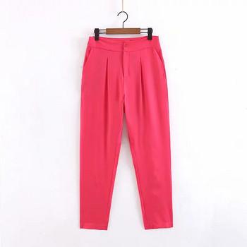 Дамски  модерен  панталон в цикламен цвят