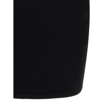 НОВ модел дамска стилна рокля с къс ръкав в черен цвят
