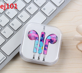 Аудио слушалки тип Earpods с цветя