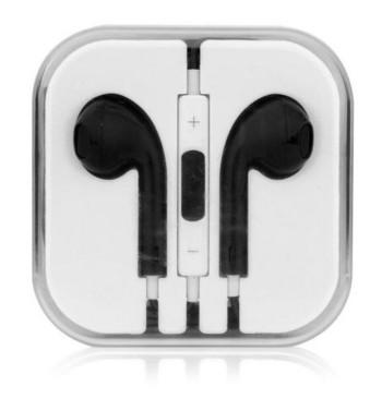 Аудио слушалки тип Earpods в черен цвят