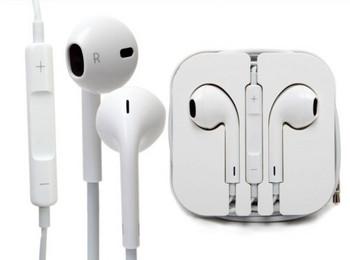 Аудио слушалки тип Earpods с микрофон в бял цвят