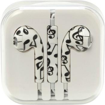 Аудио слушалки тип  тапи в бял цвят