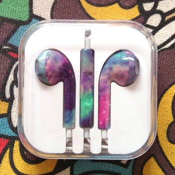 Цветни аудио слушалки тип Earpods с микрофон