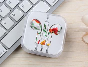 Аудио слушалки тип Earpods-с цветя