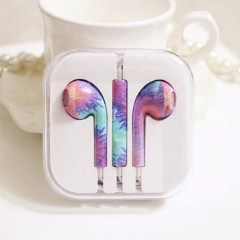 Цветни аудио слушалки с микрофон тип Earpods