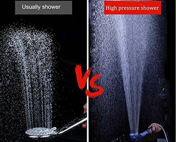 Душ слушалка с филтър за пречистване на водата - намалява хлора и пестицидите - три степени за регулиране на водната струя