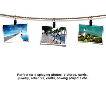 Универсална щипка  подходяща за завеси,закачане на снимки и кърпи, от неръждаема стомана в черен цвят
