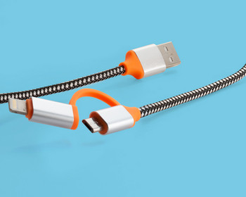 USB кабел за зареждане  Micro usb + type L