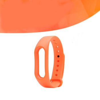 Силиконова каишка за фитнес гривни модел M3 - оранжев цвят