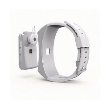 Смарт гривна 2в1 с безжична слушалка - педометър, сърдечен ритъм, изразходвани калории - бял цвят