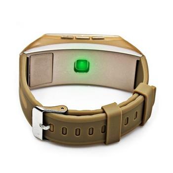 Смарт гривна 2в1 с безжична слушалка Jackom B3 - педометър, сърдечен ритъм, изразходвани калории - златист цвят