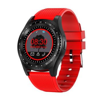 Смарт часовник с камера и USB кабел модел L9, съвместим с Android/IOS - червен цвят