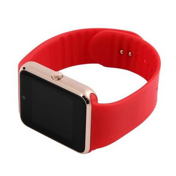 Смарт часовник с камера и измерващ мониторинг на съня - модел GT08 в червен цвят