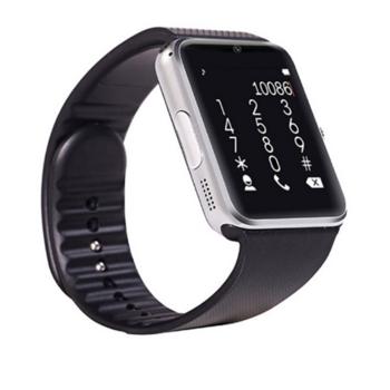 Смарт часовник с камера и измерващ мониторинг на съня - модел GT08 в  цвят черно със сребърно